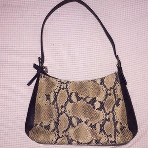 Enzo Angiolini snake skin purse
